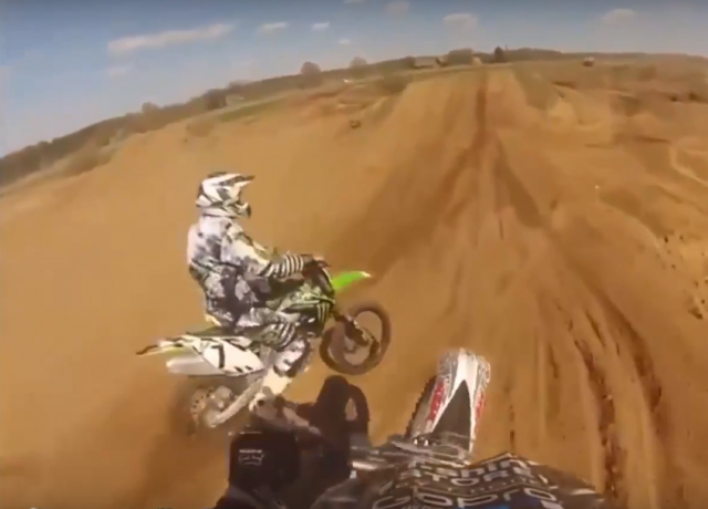 How not to ride a dirt bike