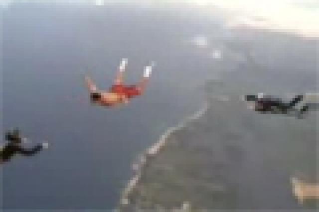Video: Pastrana's half-naked, no chute skydive