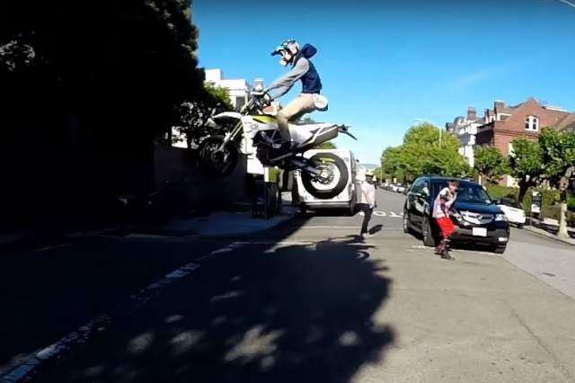 San Franciso supermoto jump