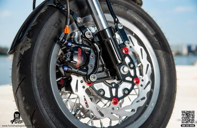 Honda grom cafe racer brakes galespeed