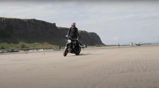 Jonathan Rea Kawasaki on the beach