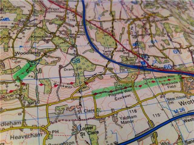 byways and byway hunting on a map