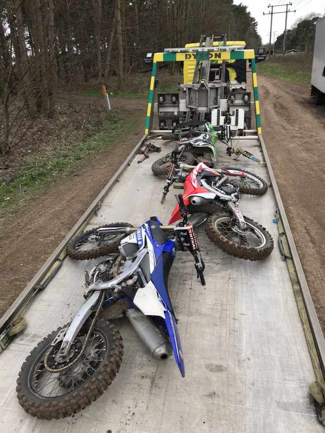 seized bikes off-road riding