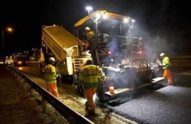 Highways England resurfacing roadworks