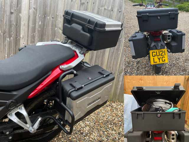 T125 panniers topbox seat and lid