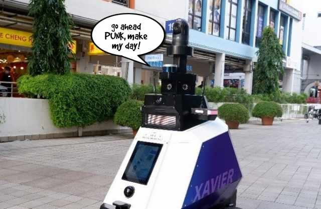 Singapore robot is set to shame badly parked bikes!