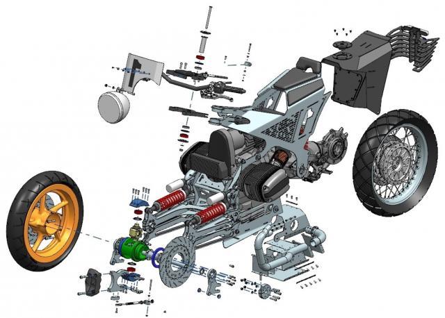 Hub-steered, Boxer-powered, sheet-metal jaw-dropper