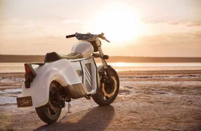 zaiser motorcycle electrocycle beach