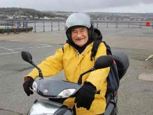 oldest motorcyclist Watch: 101-year-old takes riding assessment
