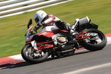 steering Bimota Tesi 3D tested around Brands Hatch