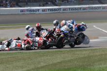 sequence Moto2: Indianapolis crash sequence