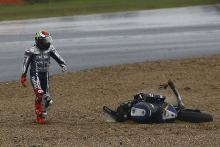 sequence Lorenzo's crash from Silverstone