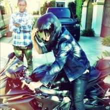 justin bieber ducati Justin Bieber pictured on a Suzuki motorcycle