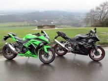 Comparison test: Kawasaki Ninja 300 vs. Daelim VJF250 review