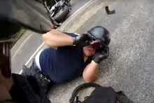 youtube Bike wrecked, sense of humour intact