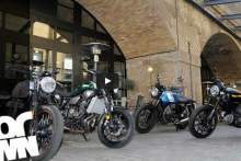 Video group test: Yamaha XSR700 vs Ducati Scrambler vs Bonneville Street Twin vs Guzzi V7 II