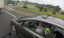 funny motorcycle video Video: Instant karma for terrible driver