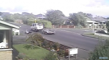 dangerous Man nearly run over after falling off motorcycle