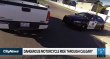America The motorcycle chase that made it onto the news...