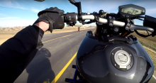 stunt Motorcyclist caught dabbing with both hands