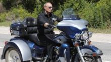 Putin on motorcycle