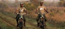 Cake Kalk – a poachers nightmare. Electric motorcycle used as anti-poaching bike