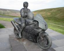 Joey Dunlop statue on the Isle of Man