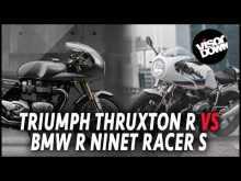 Triumph Thruxton R vs BMW R nineT Racer video review