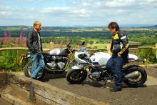 Triumph Thruxton R vs BMW R nineT Racer S review