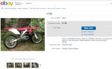funny ebay ads A motorcycle for £1?
