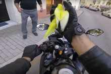 Motorcycle and bird
