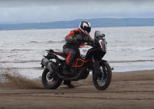 stunt rider Kevin Carmichael heads to the beach and track on KTM 1290 Super Adventure R