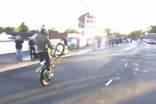 Dougie Lampkin Isle of Man wheelie