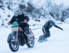 winter motorcycle