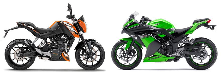 Versus Kawasaki Ninja 300 Vs Ktm 200 Duke Visordown