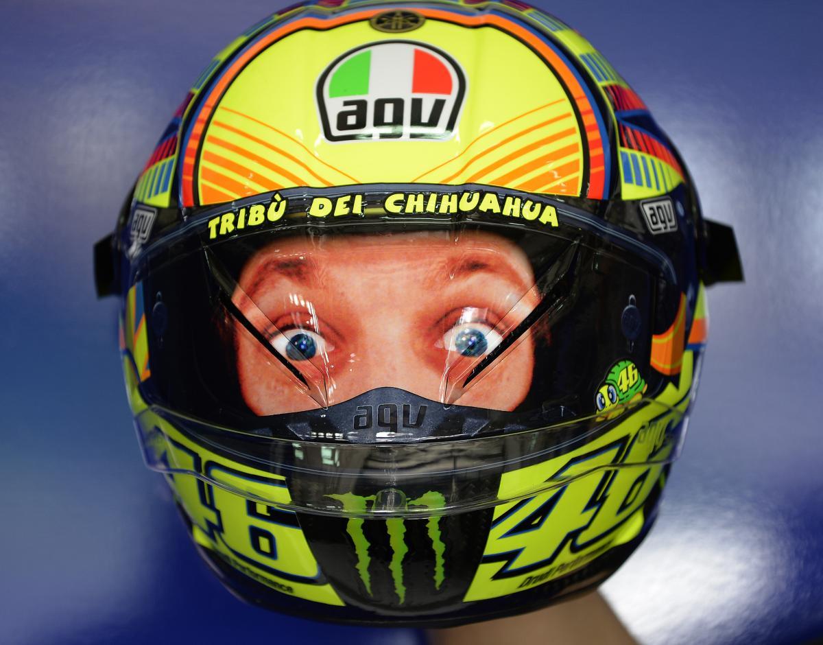 New Valentino Rossi Double Face Agv Corsa Helmet Visordown