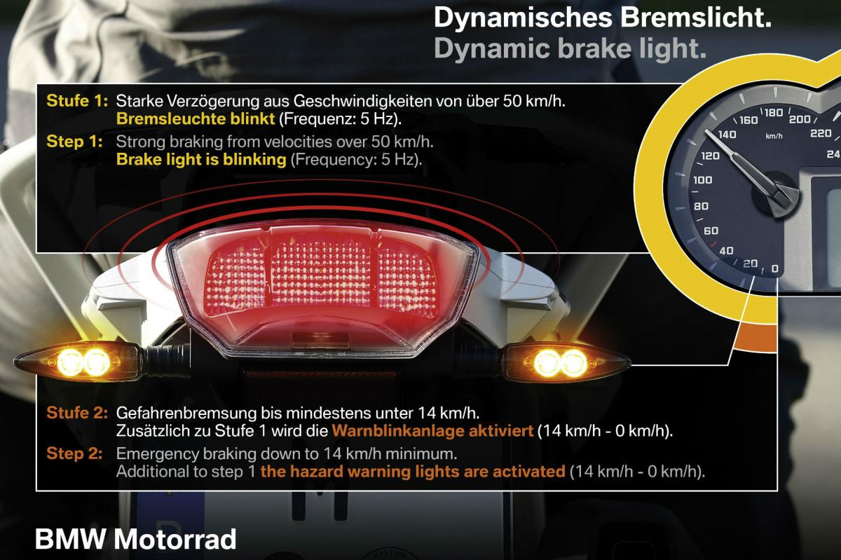 Are Flashing Brake Lights Legal Visordown Bike Tail Led Light Since We Published Details Of Bmws Dynamic A System That Flashes During Heavy Braking To Warn Others Youre Hard On The Anchors Theres