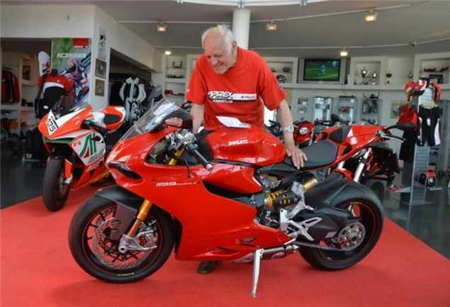 hungarian motorcyclist mathyas balint is the living embodiment of the saying age is but a number after the 85 year old picked up his brand new ducati 1199