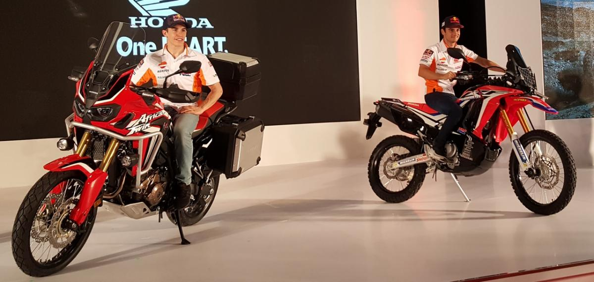VIDEO: Marquez, Pedrosa talk Honda Africa Twin and CRF250