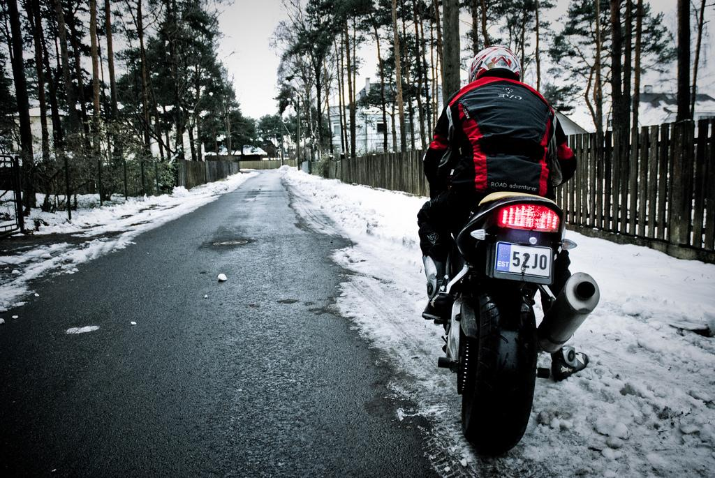What's the worst thing about motorcycling in winter?