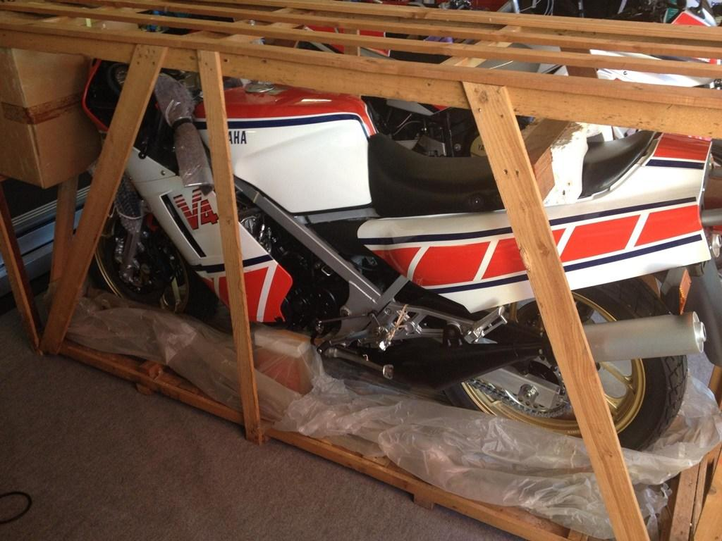Zero-mile, still crated Yamaha RZ500N for sale