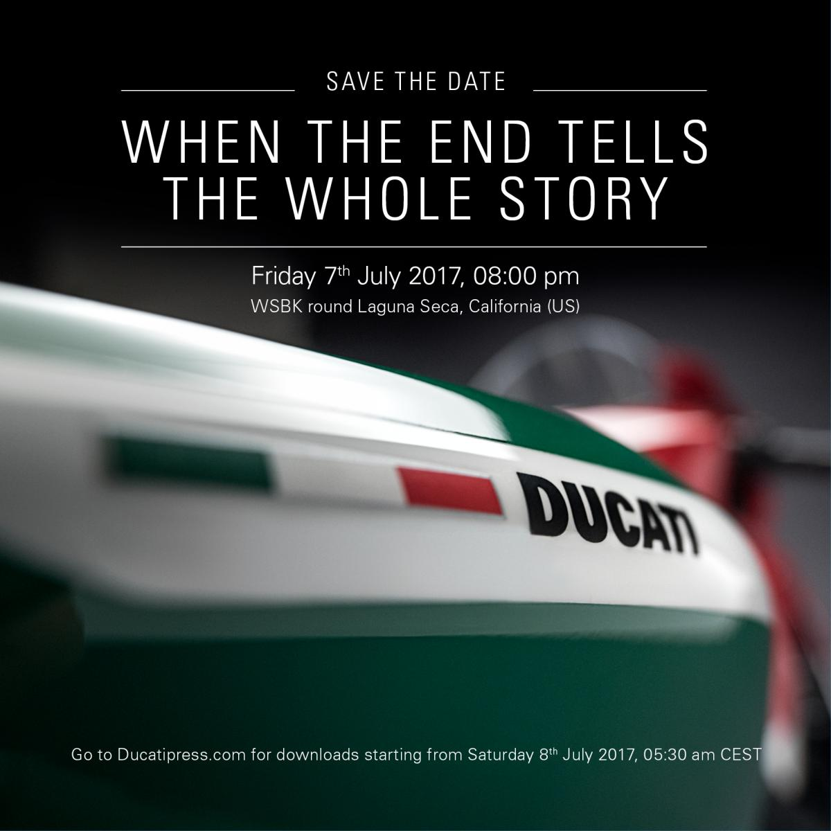 This just in from Ducati