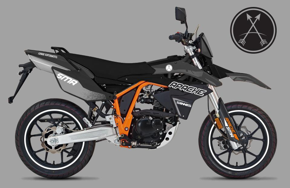 Sinnis Apache supermoto gets higher-spec 'R' edition for 2017