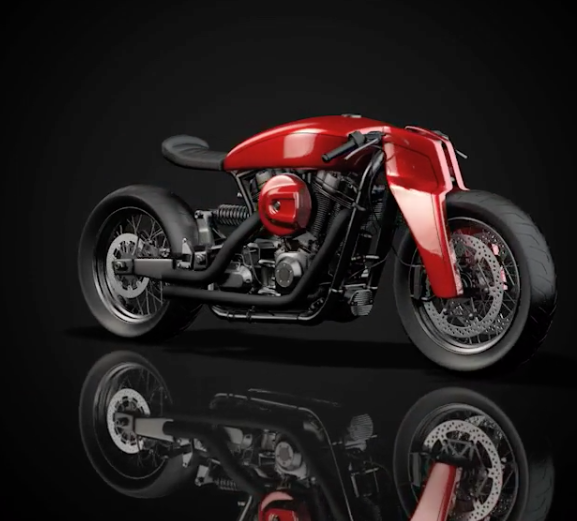 Watch: A Harley concept by Ziggy Moto