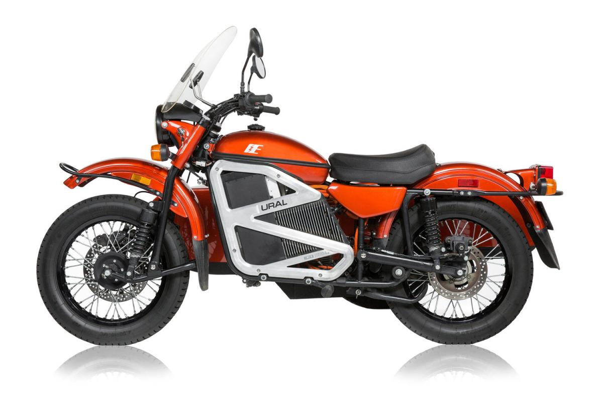 Ural electric motorcycle and sidecar
