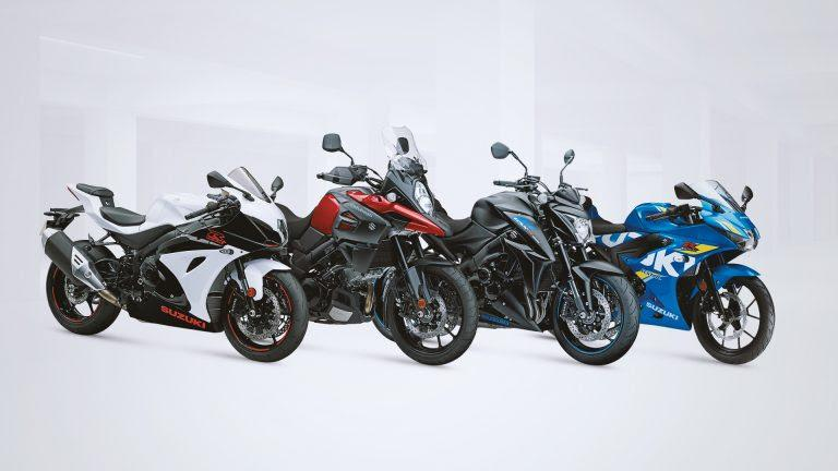 New Suzuki colours on stand at Motorcycle Live
