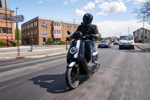 NIU NQI GTS Pro riding electric scooter