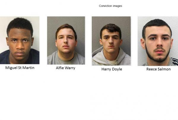 Knife-wielding moped thugs convicted of string of offences