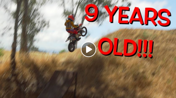 This nine-year-old is better at Motocross than most of this office!