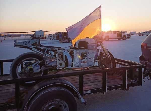 Delfast Dnepr Electric Motorcycle land speed record
